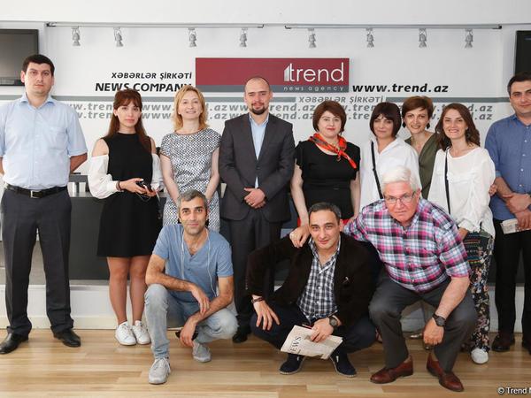 TREND İnformasiya Agentliyində Gürcüstan KİV nümayəndələri ilə görüş keçirilib - FOTO