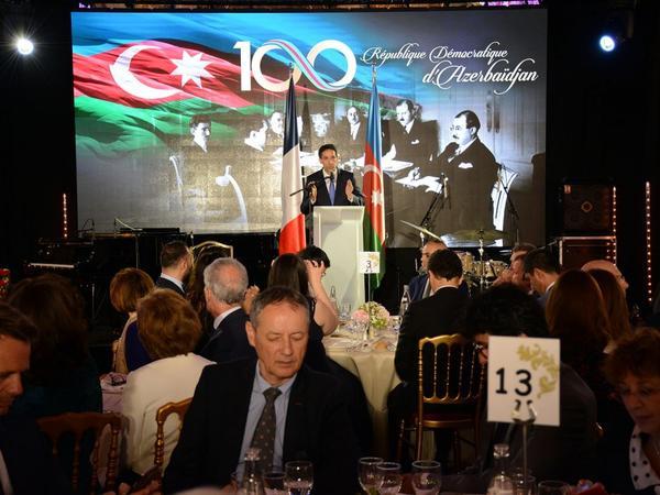 Heydər Əliyev Fondunun təşkilatçılığı ilə Azərbaycan Xalq Cümhuriyyətinin 100 illiyi Parisdə təntənə ilə qeyd edilib - FOTO