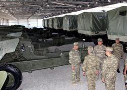 Cəbhə bölgəsində Raket və Artilleriya Qoşunlarının hərbi hissəsinin açılışı olub - FOTO