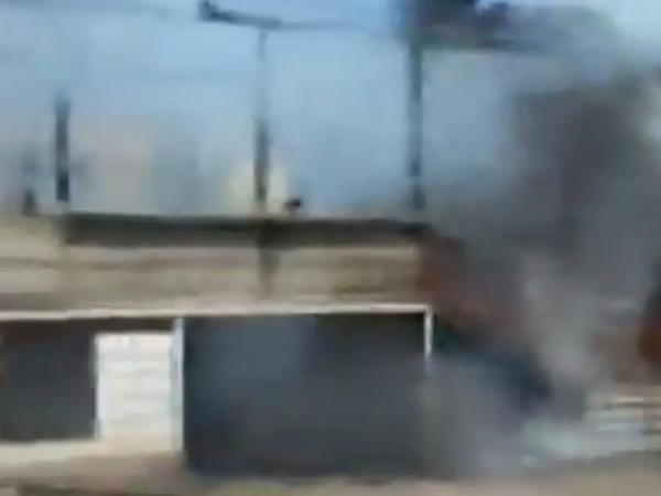 Şəmkirdə yanan evin GÖRÜNTÜLƏRİ - VİDEO - FOTO
