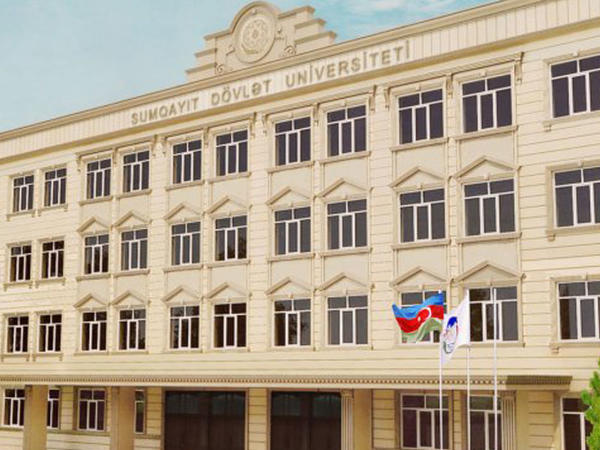 Sumqayıtda universitet binasında uçqun - FOTO