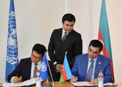 BANM və BMT-nin UNITAR təşkilatı arasında memorandum imzalandı - FOTO