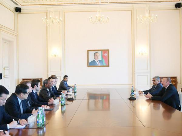 Prezident İlham Əliyev Asiya İnkişaf Bankının İdarə Heyəti Şurasının üzvlərini qəbul etdi - FOTO