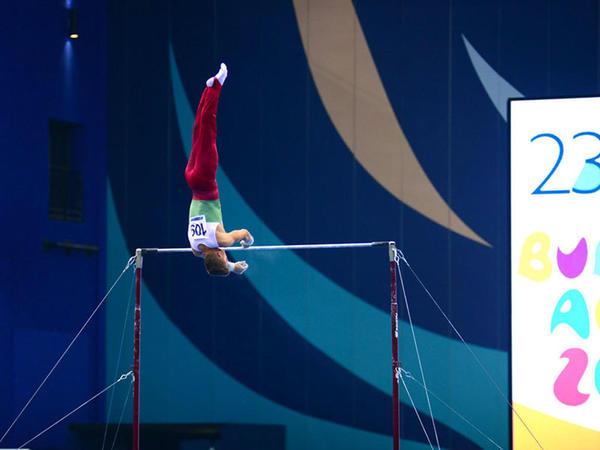 32 ölkədən olan gimnastlar Bakıda Yeniyetmələrin Olimpiya Oyunlarına vəsiqə uğrunda mübarizə aparır - FOTOREPORTAJ