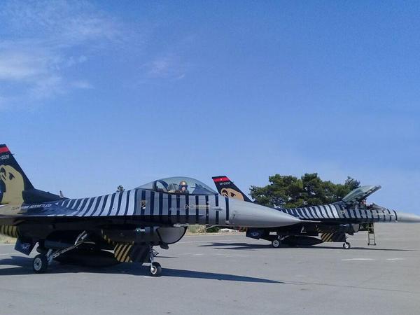 Türkiyənin F-16-ları Bakıda - FOTO