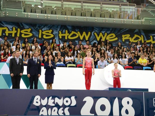 Bakıda Yeniyetmələrin Olimpiya Oyunlarına idman gimnastikası üzrə təsnifat yarışlarının qalibləri mükafatlandırılıb  - FOTO