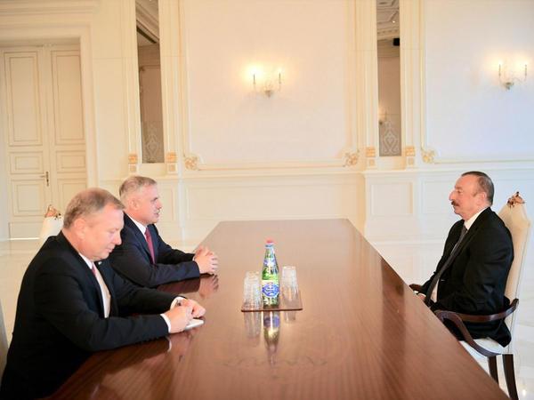 Prezident İlham Əliyev Belarus Təhlükəsizlik Şurasının dövlət katibini qəbul edib