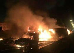 İranda avtobus yanacaq daşıyan yük maşını ilə toqquşaraq yanıb, 27 sərnişin ölüb - VİDEO