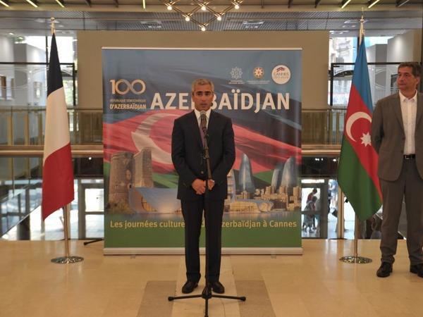 Heydər Əliyev Fondunun təşkilatçılığı ilə Fransanın Kann şəhərində Azərbaycan mədəniyyəti günləri başlayıb - FOTO