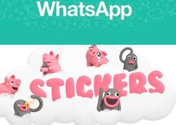 """""""Whatsapp""""da çoxdan gözlənilən funksiya: <span class=""""color_red"""">stikerlər gəlir</span>"""