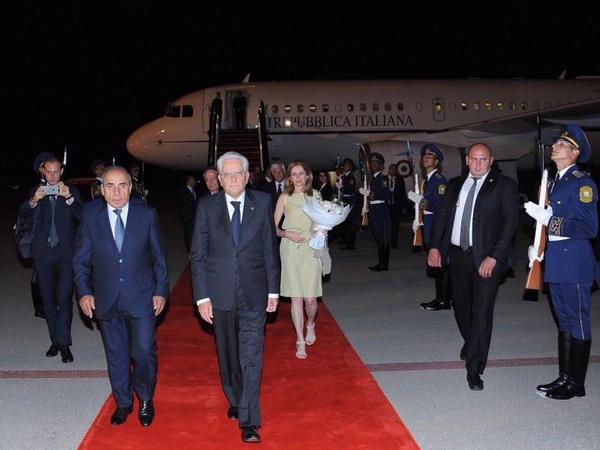 İtaliya Prezidenti Sercio Mattarella Azərbaycana rəsmi səfərə gəlib - FOTO