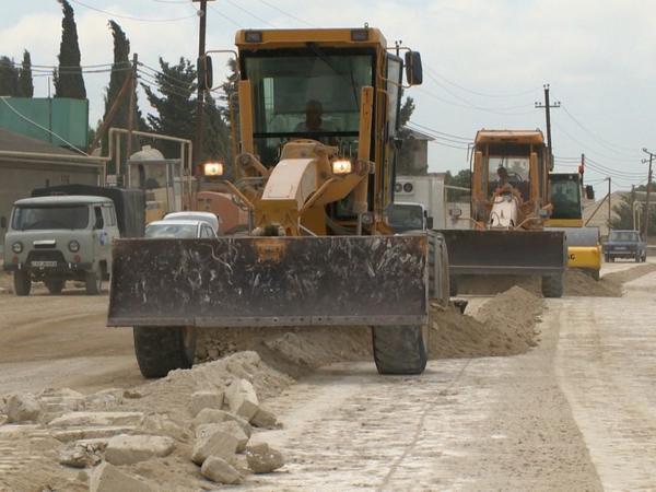 Mərdəkan-Qala avtomobil yolu da bərpa edilir - FOTO