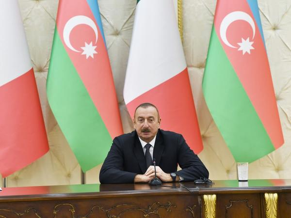 """Prezident İlham Əliyev: """"Azərbaycan İtaliya üçün, İtaliya Azərbaycan üçün çox etibarlı tərəfdaşdır"""""""
