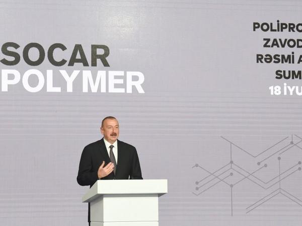 """Prezident İlham Əliyev: """"Azərbaycan öz sənaye potensialını müasirləşdirir, gücləndirir"""""""