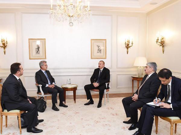 Prezident İlham Əliyev Parisdə bir sıra görüşlər keçirib - YENİLƏNİB - FOTO