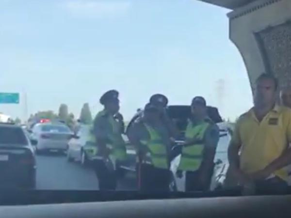 Aeroport yolunda qəza: 5 maşın bir-birinə çırpıldı - VİDEO