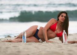 Teleaparıcı su reklamında - FOTO