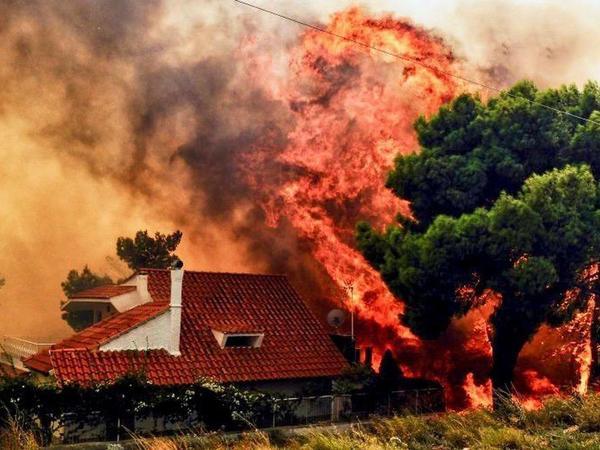 Yunanıstanda yanğınlar nəticəsində ölənlərin sayı 96-ya çatıb