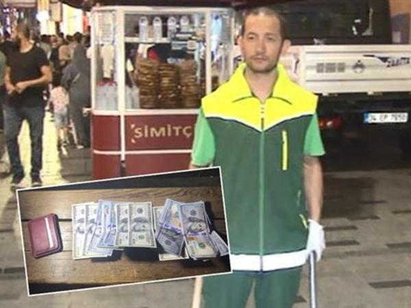 Zibil yığırdı, dollarla dolu pul qapı tapdı