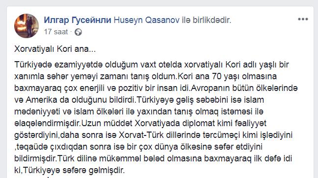 Hacı Şahin xorvatiyalı qadını necə ağlatdı? - 2 günə müsəlman olan Kori ananın ibrət dərsi