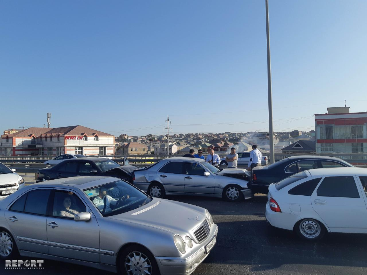 Bakı-Quba yolunda zəncirvari qəza - FOTO