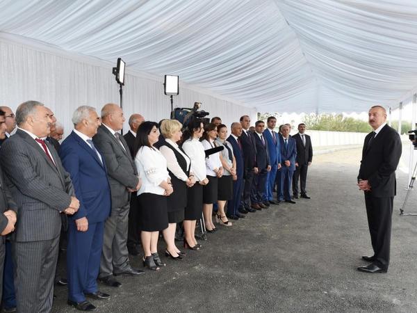 """Prezident İlham Əliyev: """"Əsas ərzaq məhsulları ilə özümüzü təminetmə səviyyəsinə çox yaxınlaşmışıq"""""""