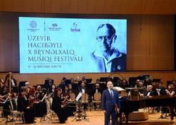 Üzeyir Hacıbəyli X Beynəlxalq Musiqi Festivalının təntənəli açılış mərasimi olub - FOTO
