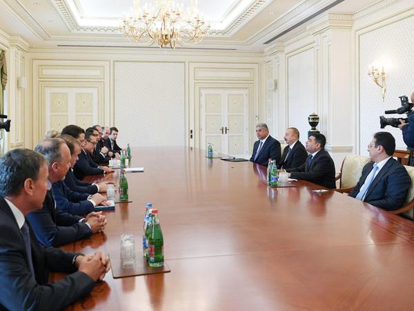 Prezident İlham Əliyev Avstriyanın vitse-kansleri ilə görüşüb - FOTO