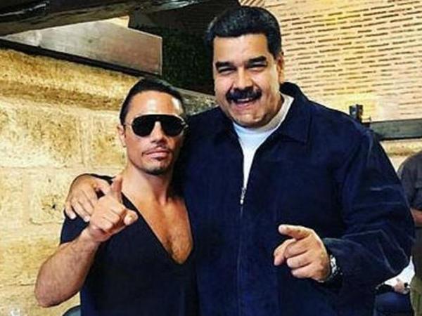 "Venesuela prezidenti Nüsrətin restoranına getdi - <span class=""color_red"">VİDEO</span>"