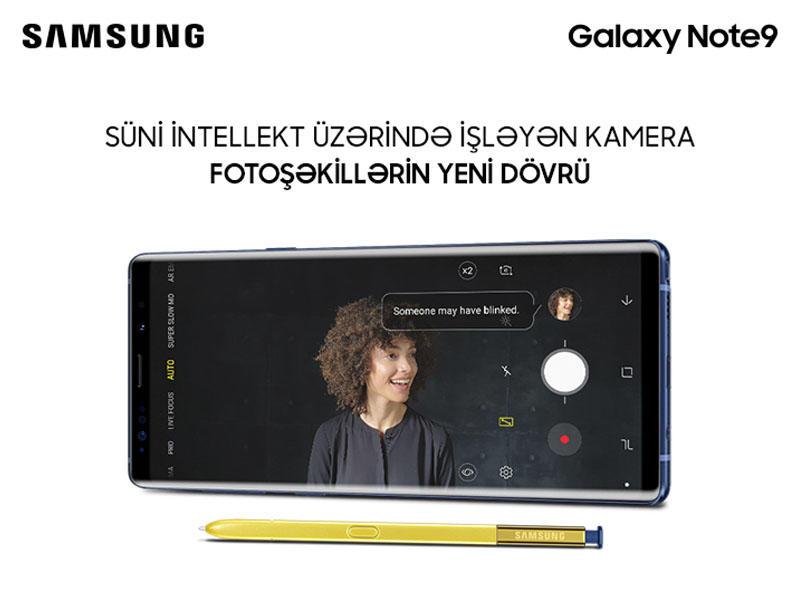 Yeni Samsung Galaxy Note9 smartfonlarının süni intellektli kamerası