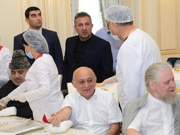 Qafqaz Müsəlmanları İdarəsində qanvermə aksiyası keçirilib - FOTO