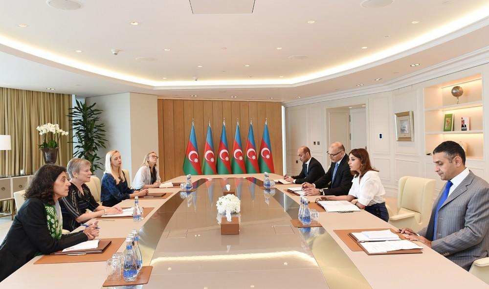 Birinci vitse-prezident Mehriban Əliyeva NATO baş katibinin müavini ilə görüşüb - FOTO