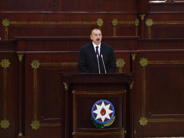 """Azərbaycan Prezidenti: """"Bizim siyasətimiz Ermənistanı tam təcrid edilmiş vəziyyətə salmaqdır, iqtisadi dayaqlarını çökdürməkdir"""""""