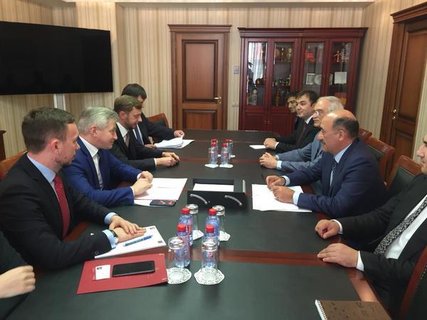 Əbülfəs Qarayev Moskva Hökumətinin naziri Aleksandr Kibovski ilə görüşüb - FOTO
