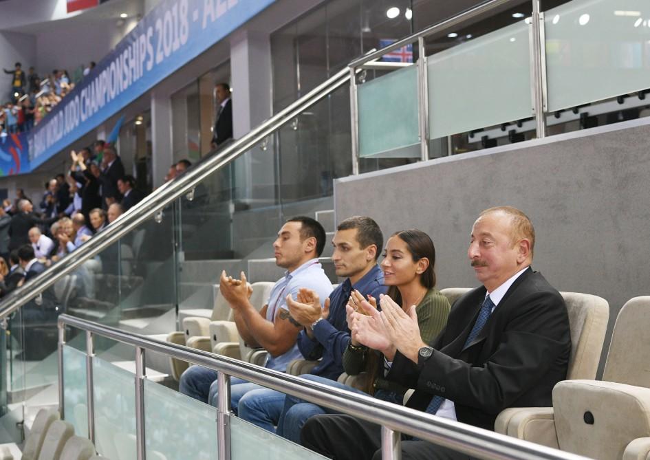 Prezident İlham Əliyev Bakıda keçirilən cüdo üzrə dünya çempionatını izlədi -