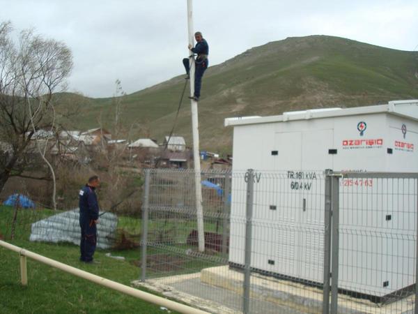Cənub regionunda elektrik enerjisi infrastrukturu yenidən qurulur - FOTO