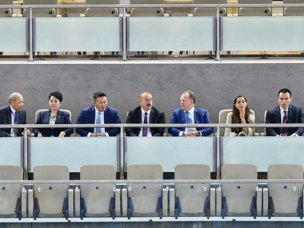 """Prezident İlham Əliyev cüdo üzrə dünya çempionatında final görüşünə baxıb - <span class=""""color_red"""">YENİLƏNİB</span>"""
