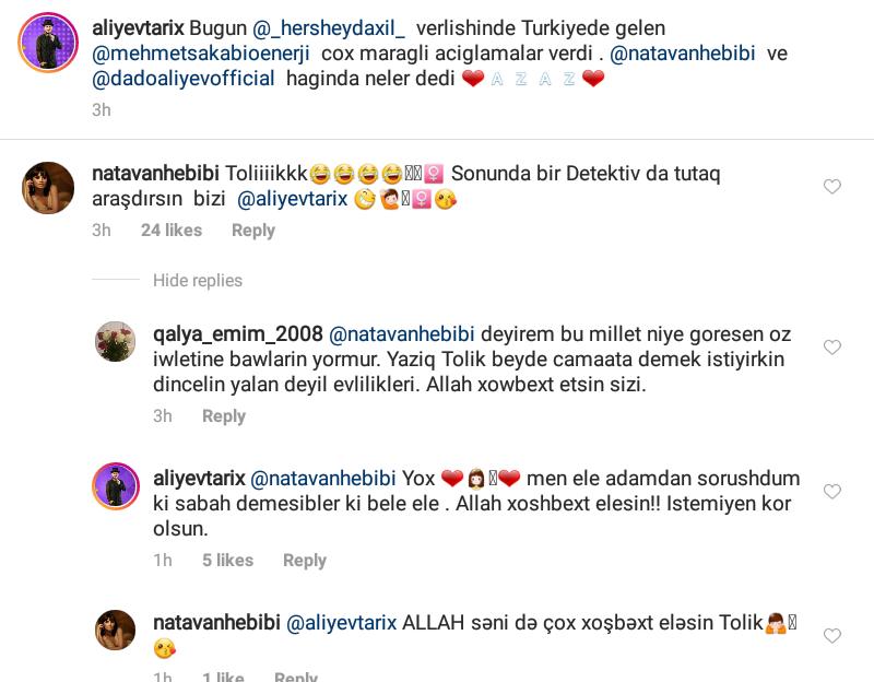 """Natavanla Tolik arasında gərginlik: """"Daşım ağır olub"""" - FOTO"""
