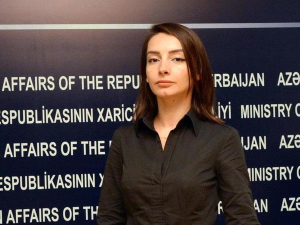 """Leyla Abdullayeva: """"Ermənistan baş nazirinin söylədiklərini onun öz əhalisini yanıltmaq cəhdi kimi xarakterizə etmək olar"""""""