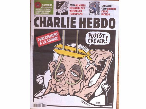 Fransa jurnalı Şarl Aznavurun karikaturasını çap edib