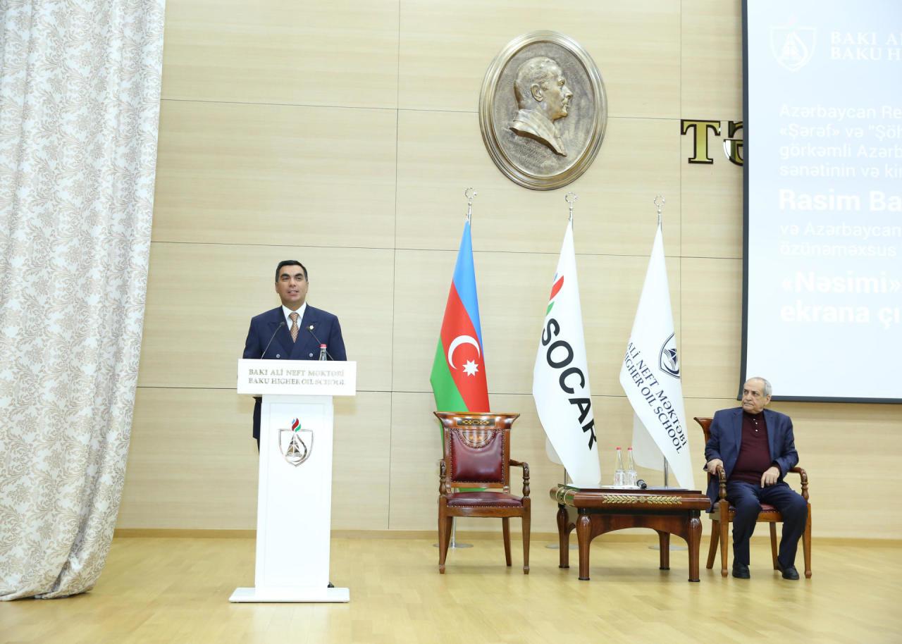 Bakı Ali Neft Məktəbində Rasim Balayevin 70 illik yubileyi qeyd edildi - FOTO