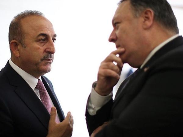 """""""Sanksiyalar absurd idi"""" - <span class=""""color_red"""">Pompeo ilə görüşən Çavuşoğlu</span>"""