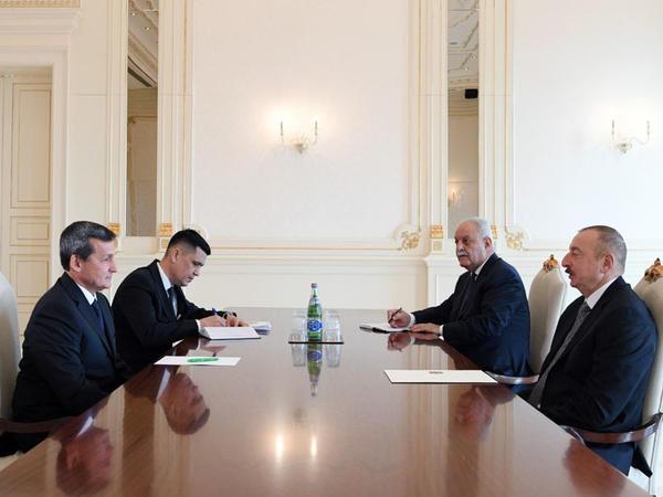 Prezident İlham Əliyev Türkmənistan Nazirlər Kabineti Sədrinin müavinini qəbul edib