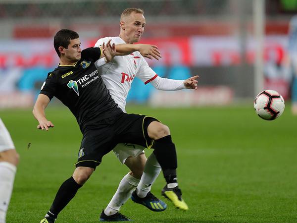 """Ayaz Quliyev 90 dəqiqə oynadı, <span class=""""color_red"""">komandası """"Lokomotiv""""ə uduzdu - VİDEO</span>"""