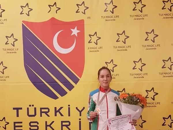 Səbinə Kərimova beynəlxalq turnirdə bürünc medal qazanıb - FOTO