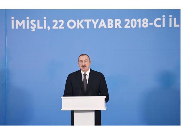 """Prezident İlham Əliyev: """"Araz çayının yeni qol-kanalının açılışı kənd təsərrüfatının inkişafına daha da böyük təkan verəcək"""""""