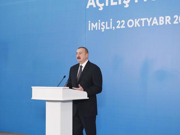 """Azərbaycan Prezidenti: """"Kompleks tədbirlər nəticəsində kənd təsərrüfatının inkişafına nail oluruq"""""""