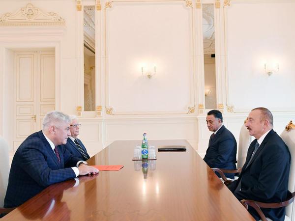 Prezident İlham Əliyev Rusiyanın daxili işlər nazirini qəbul edib - FOTO