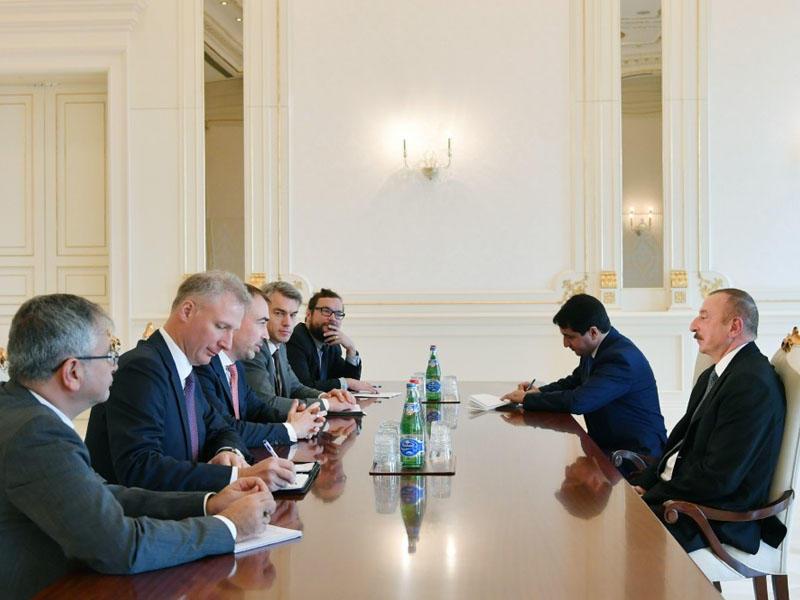 Prezident İlham Əliyev Avropa İttifaqının xüsusi nümayəndəsini qəbul edib