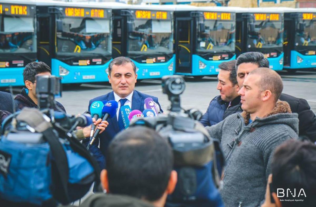 160 nömrəli marşrut xətti üzrə YENİ AVTOBUSLAR - FOTO